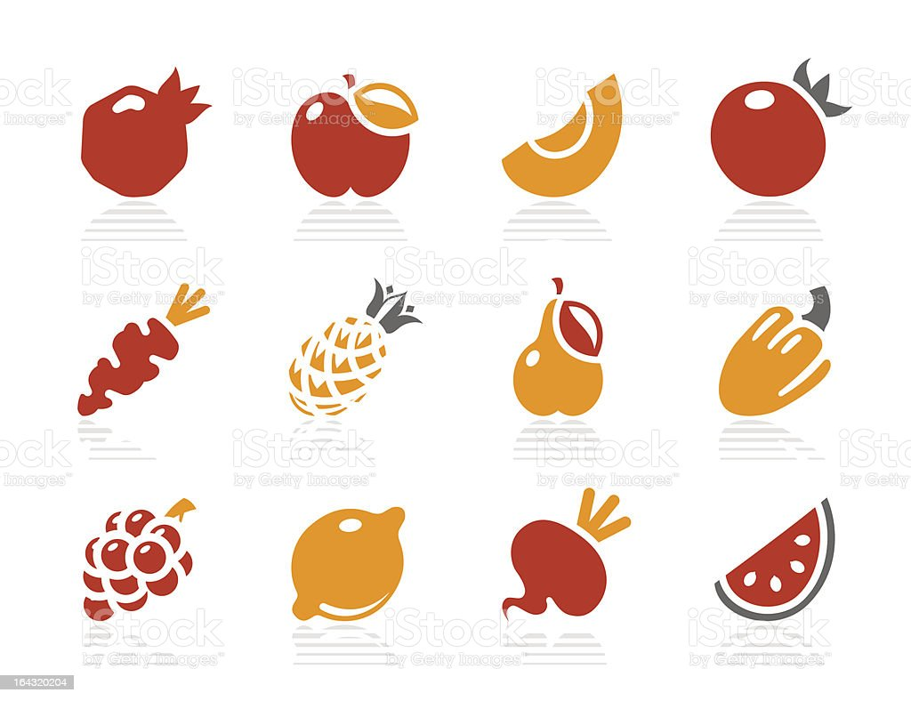 Fruits and Vegetables icons | Sunshine Hotel series royalty-free stock vector art