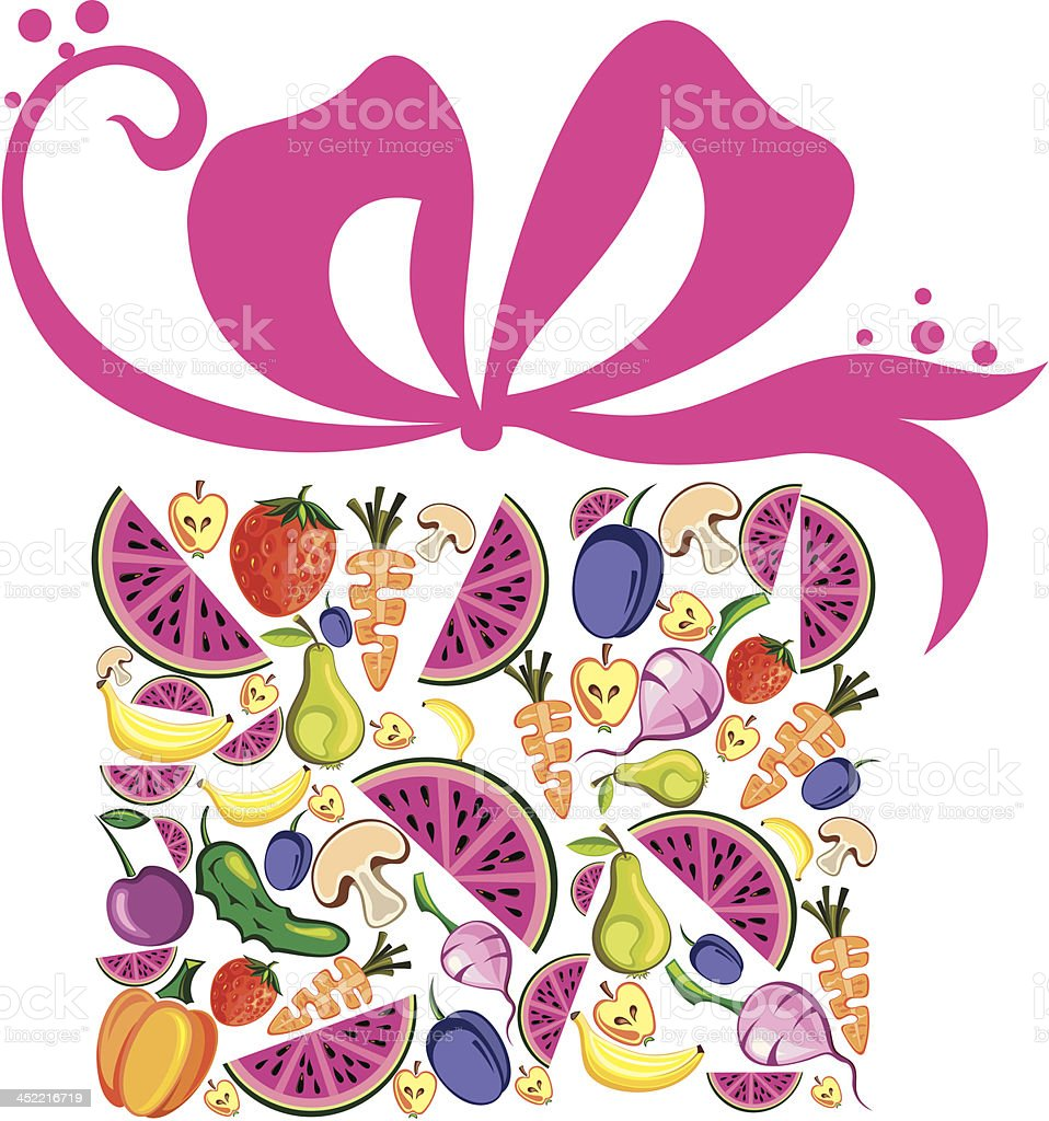Fruits and vegetables vector collection royalty-free stock vector art