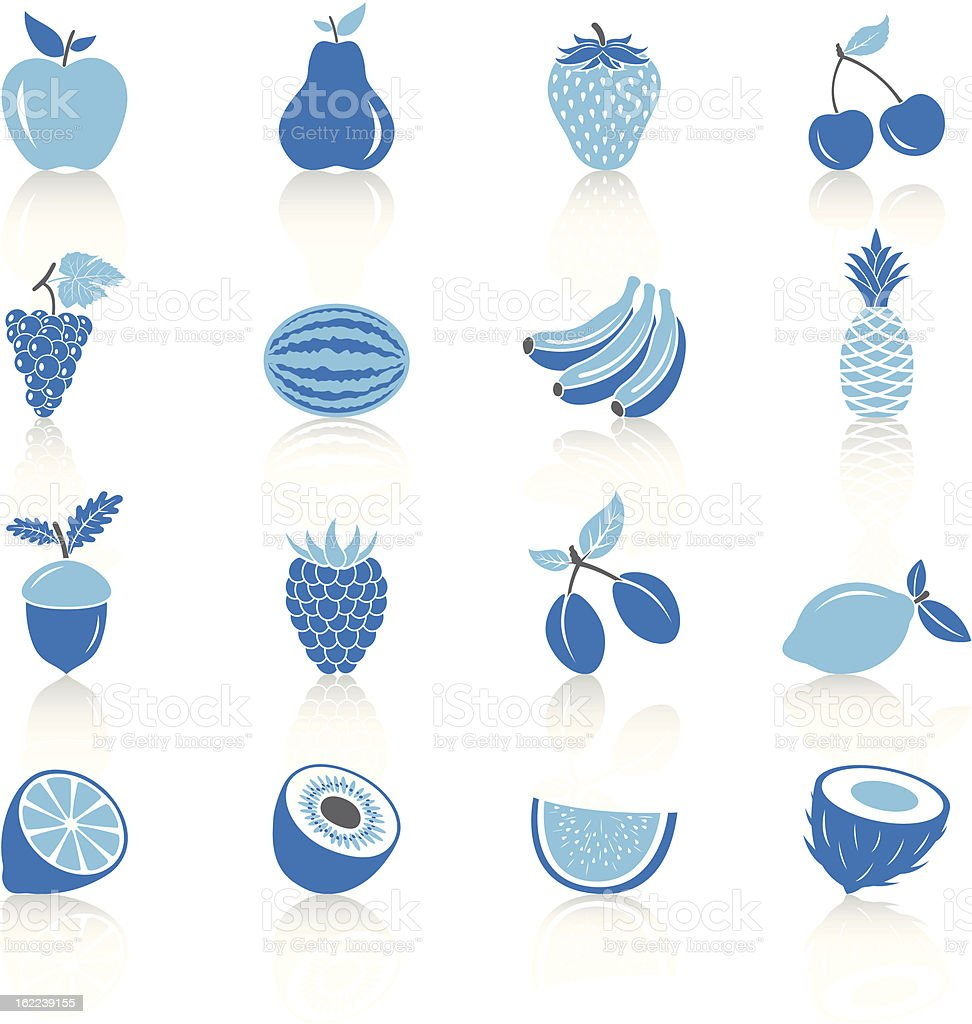 Fruits - Blue Series royalty-free stock vector art