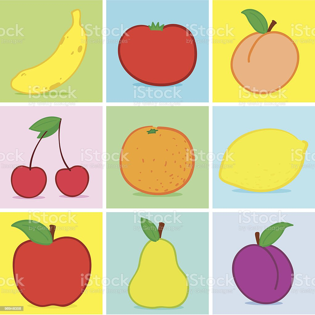 Fruits doodle royalty-free stock vector art