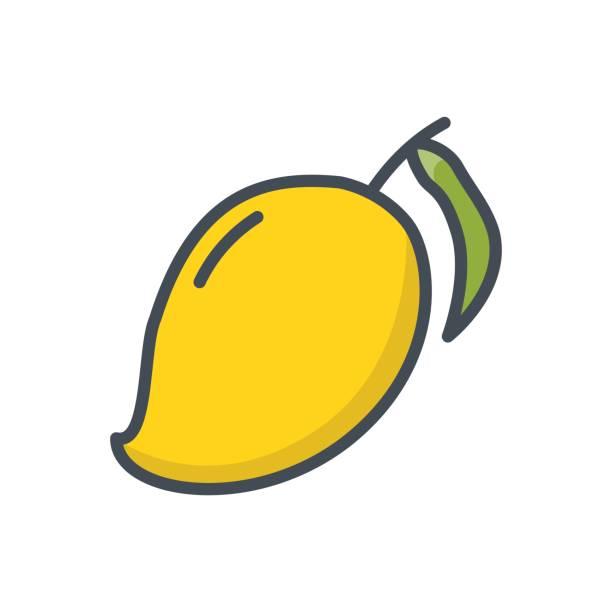 Yellow Ripe Cartoon Mango Fruit Clip Art, Vector Images ...