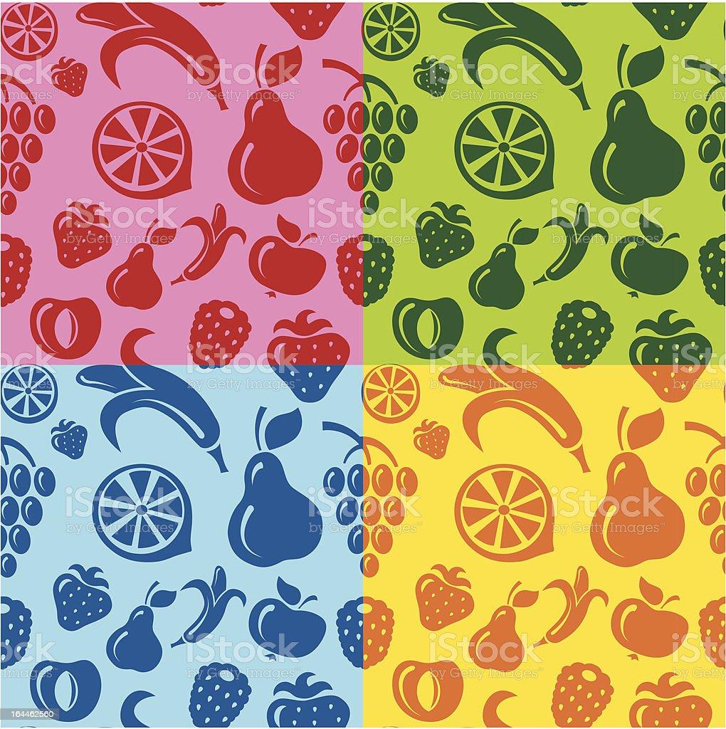 fruits seamless pattern royalty-free stock vector art
