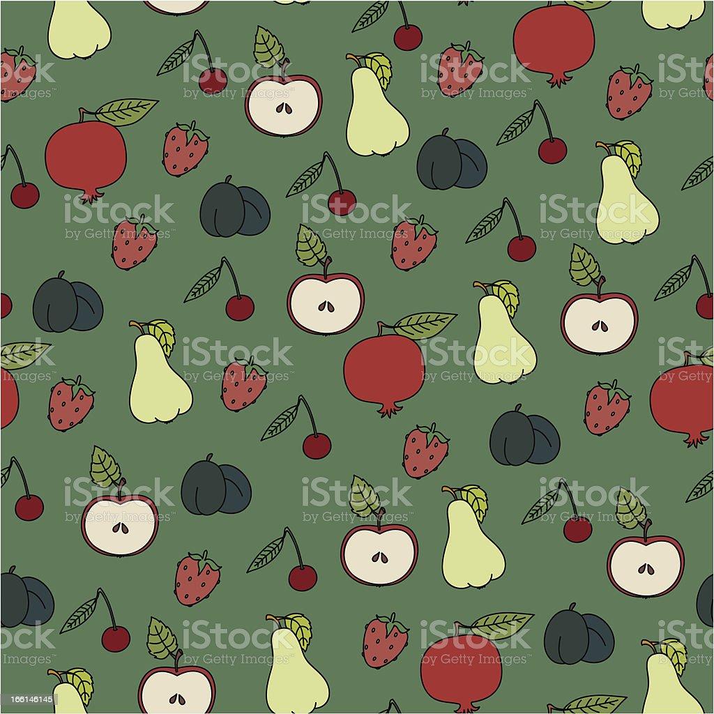 Fruits seamless wallpaper royalty-free stock vector art