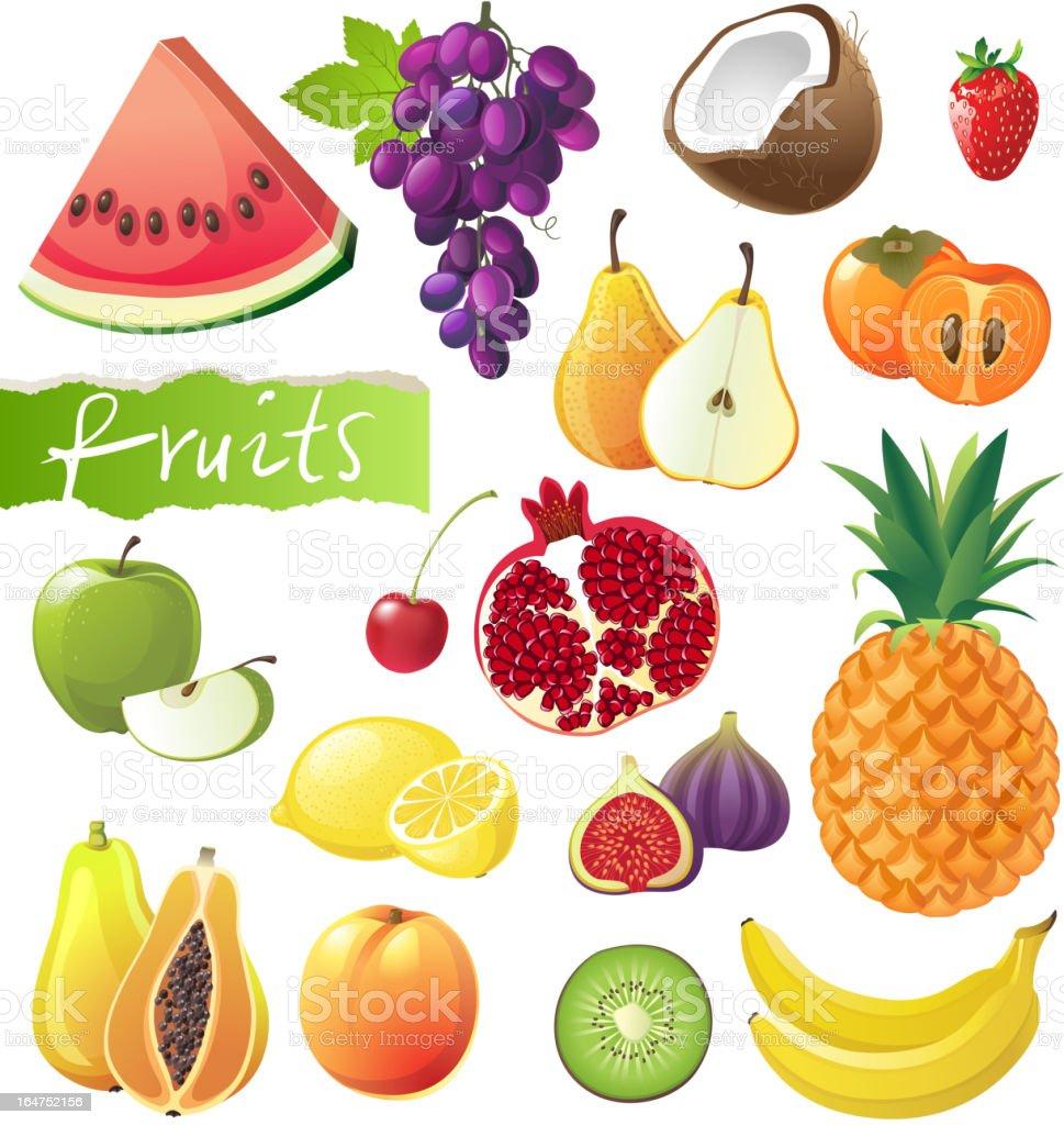 fruits set royalty-free stock vector art