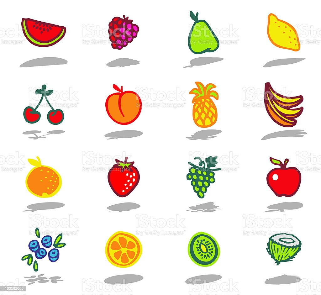 fruits theme royalty-free stock vector art