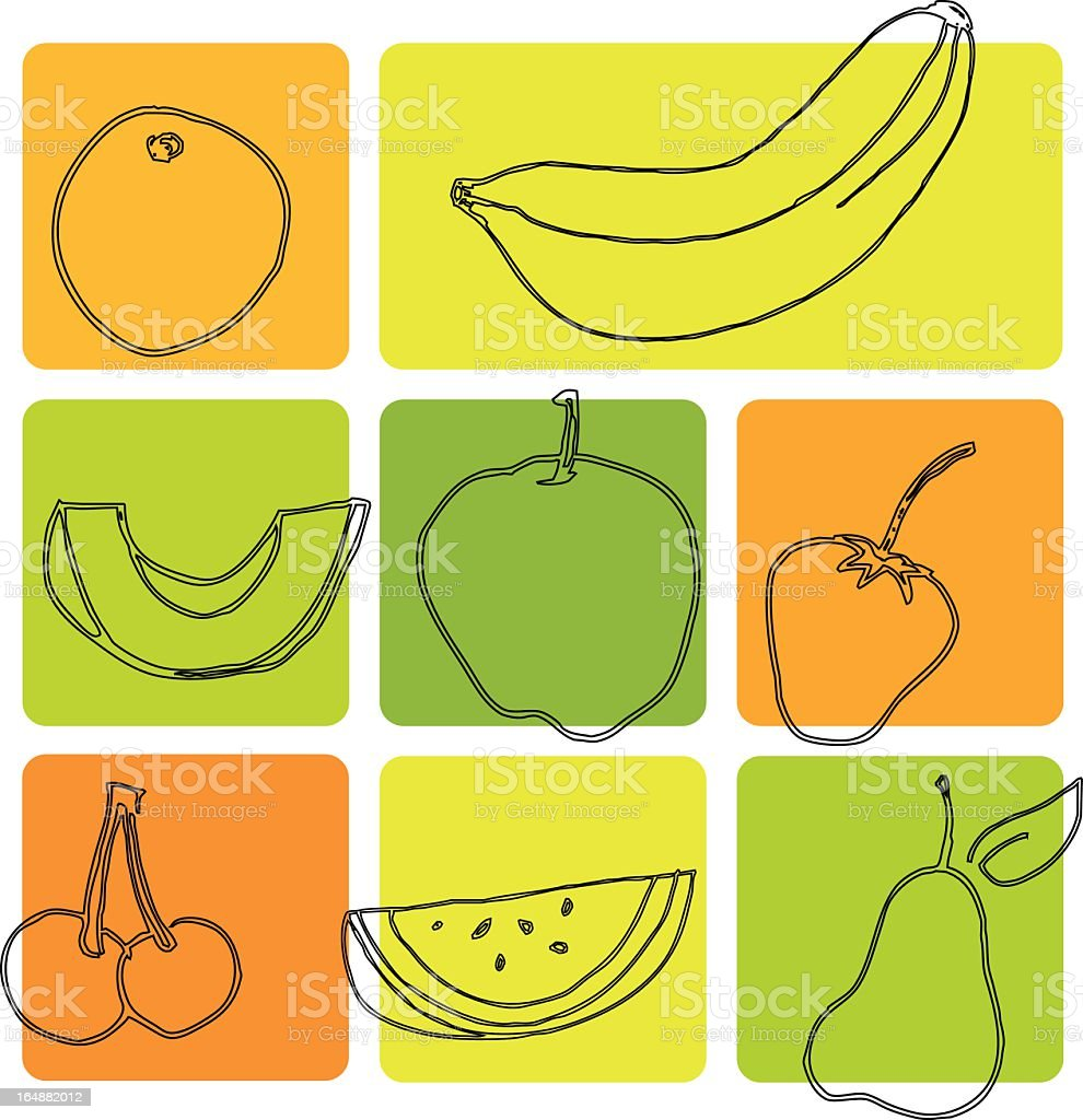 Fruits royalty-free stock vector art