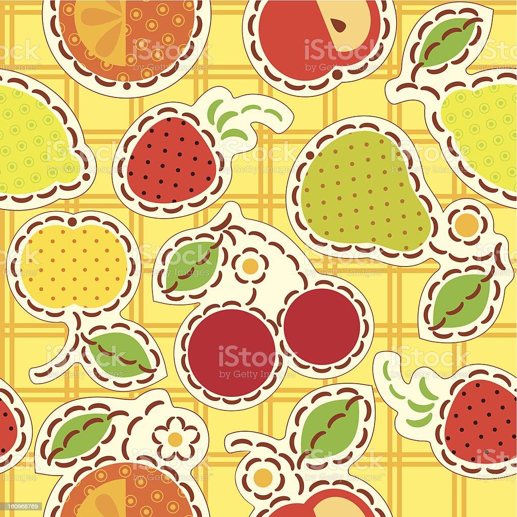 fruits wallpaper royalty-free stock vector art