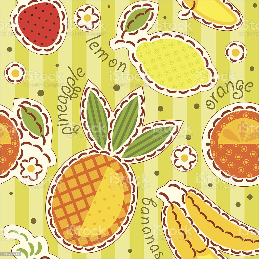 fruits wallpaper royalty-free stock vector art
