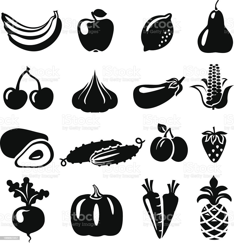 FruitsVegetables royalty-free stock vector art
