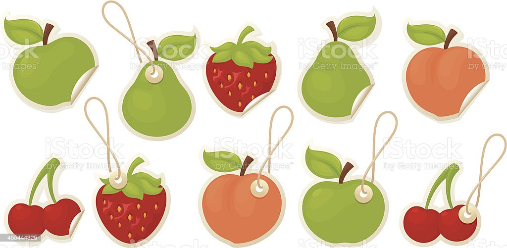 Fruity Labels royalty-free stock vector art