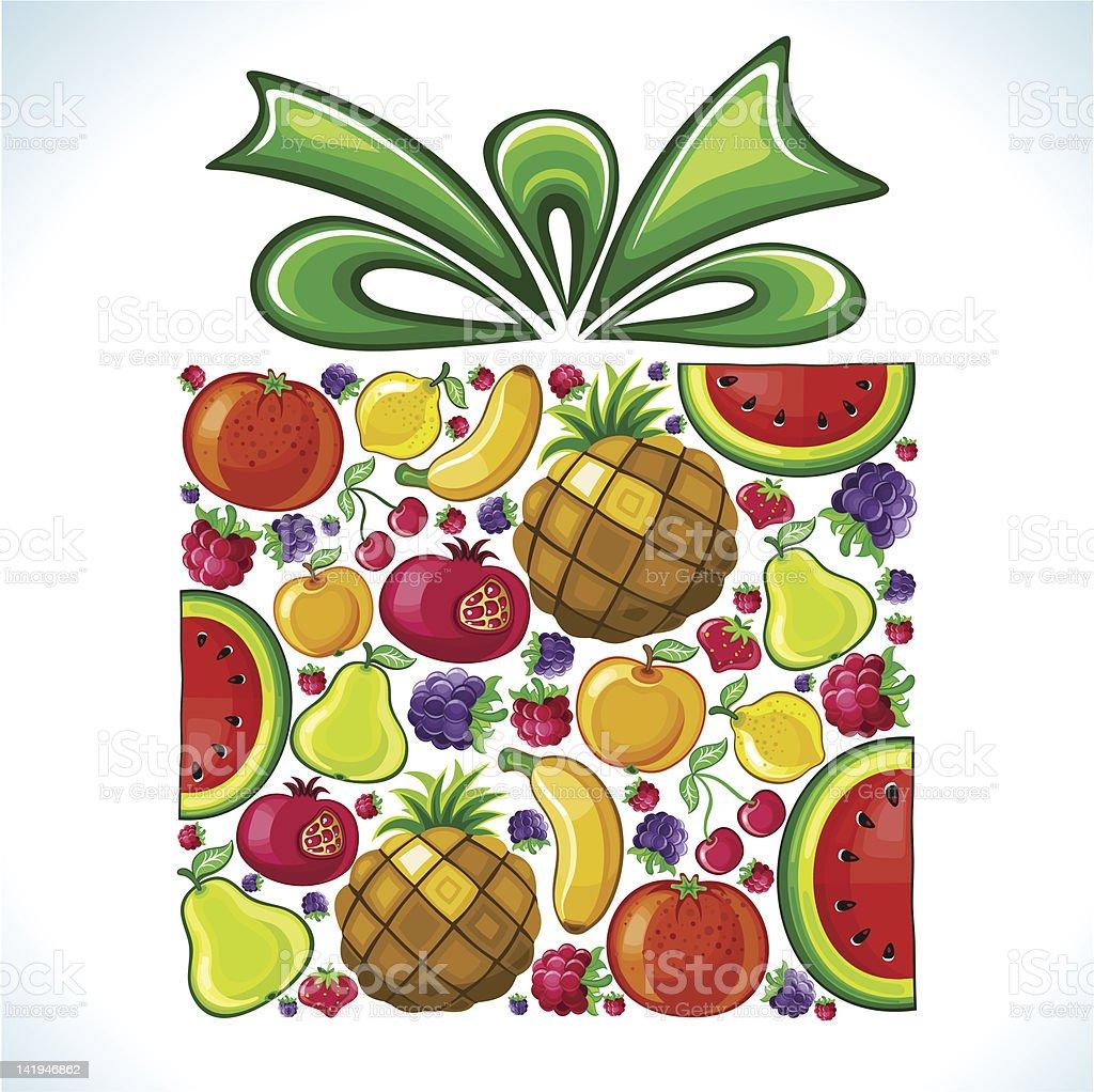 Fruity present. royalty-free stock vector art