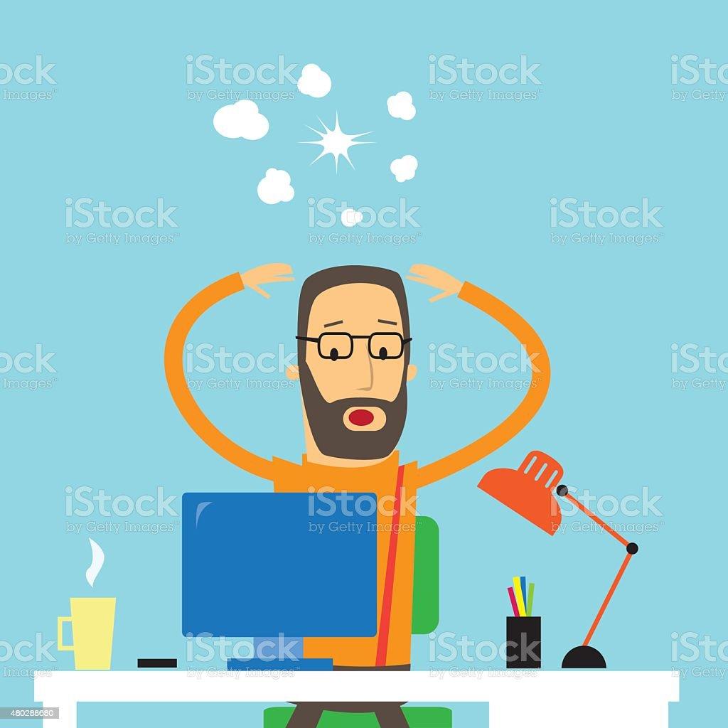 Frustation vector art illustration