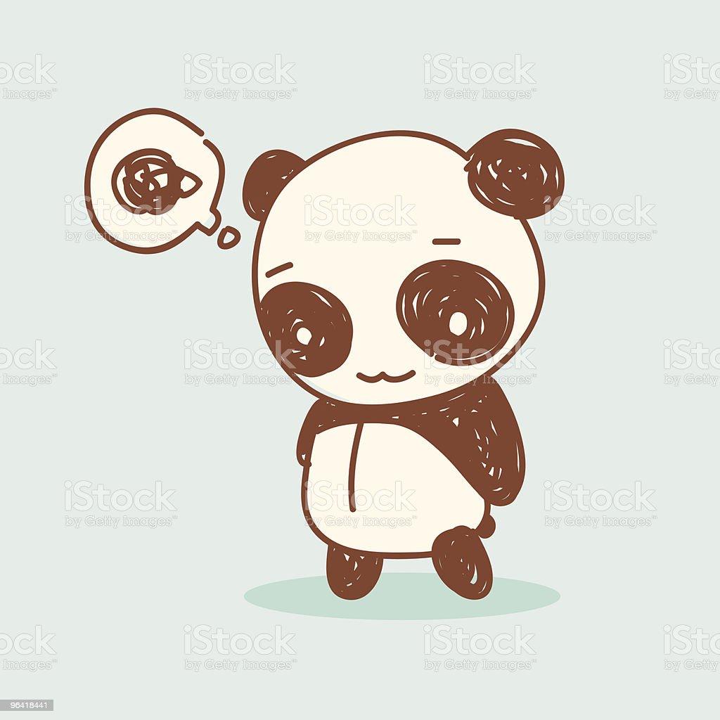 frustrated panda vector art illustration