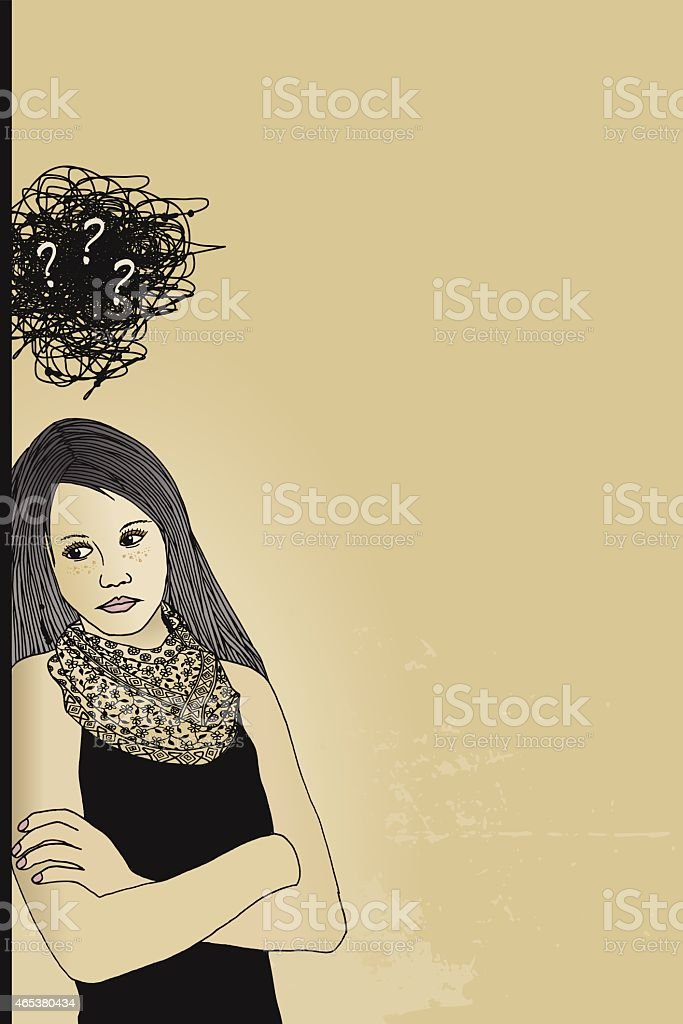 Frustrated with life vector art illustration