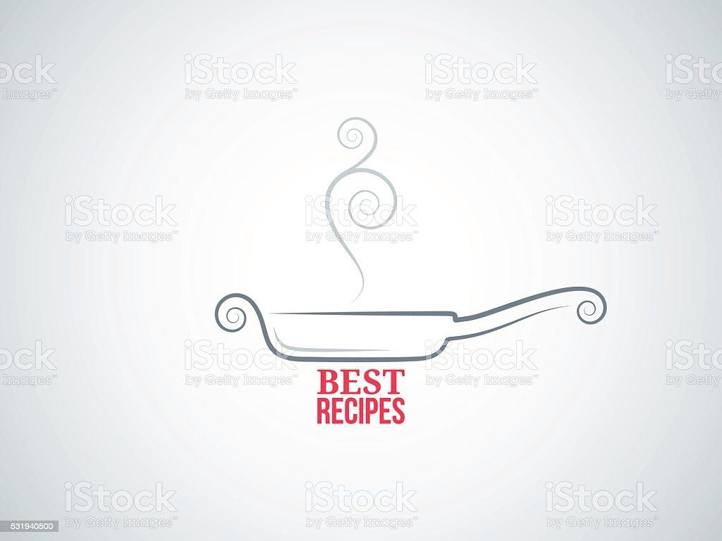 frying pan ornate vector background vector art illustration