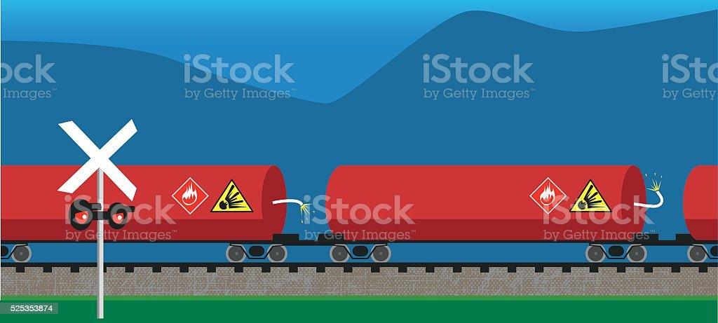 Fuel and oil transportation vector art illustration