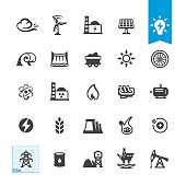Fuel and Power Generation related vector icons