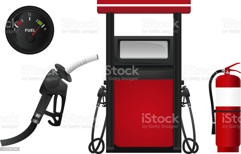 Fuel Gas Station Petrochemical service Gasoline Workshop royalty-free stock vector art