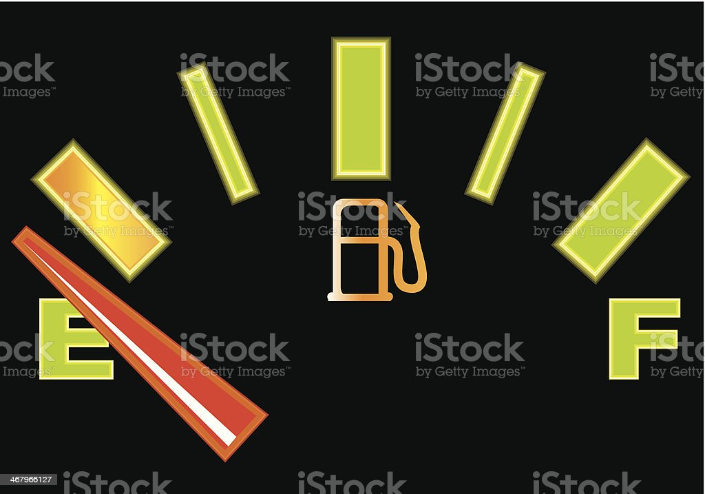 Fuel gauge glowing royalty-free stock vector art