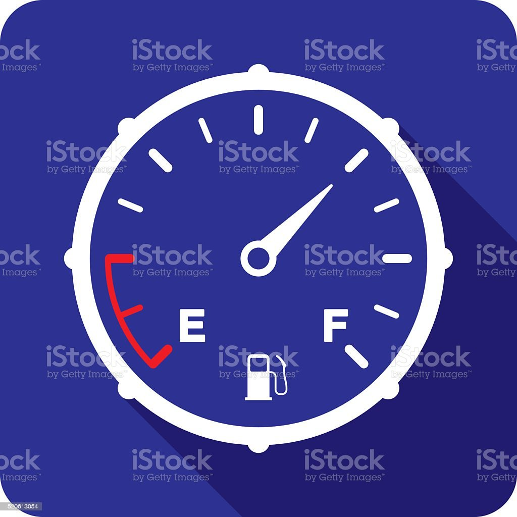 Fuel Gauge Icon Silhouette vector art illustration