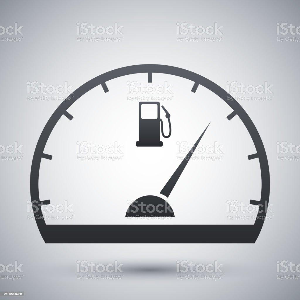 Fuel gauge icon, vector vector art illustration