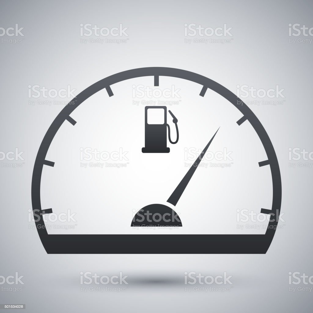Fuel gauge icon, vector vector art illustration