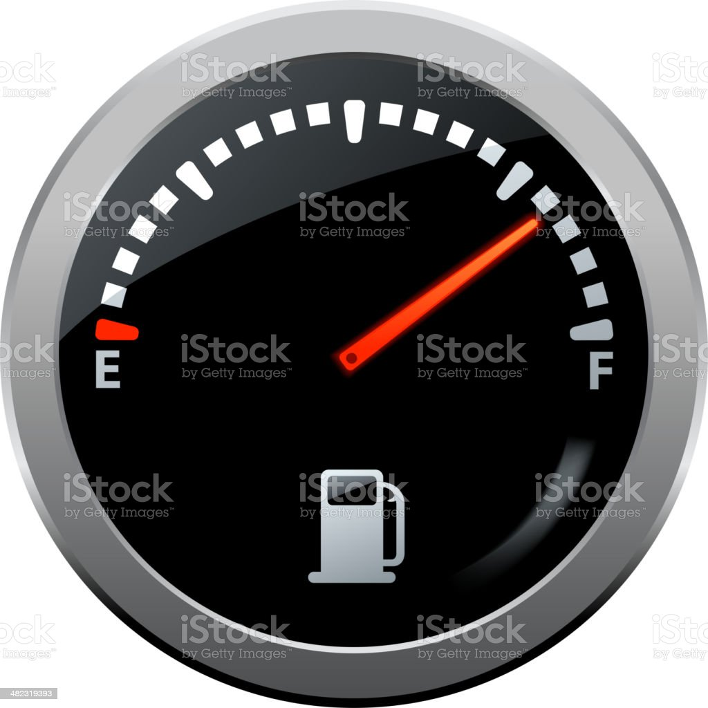 fuel gauge symbol vector art illustration
