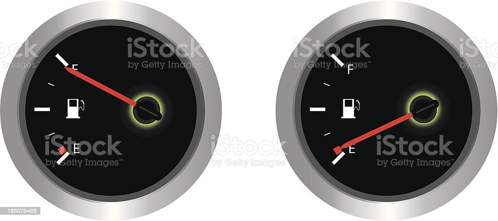 Fuel Gauge royalty-free stock vector art