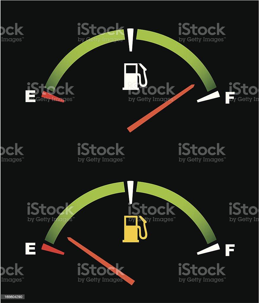 Fuel Gauge royalty-free stock vector art