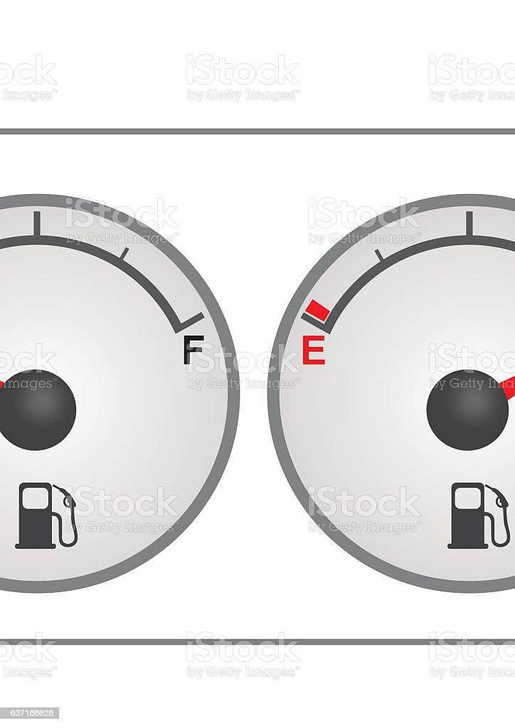 Fuel gauge vector art illustration