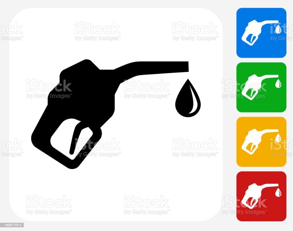 Fuel Icon Flat Graphic Design vector art illustration
