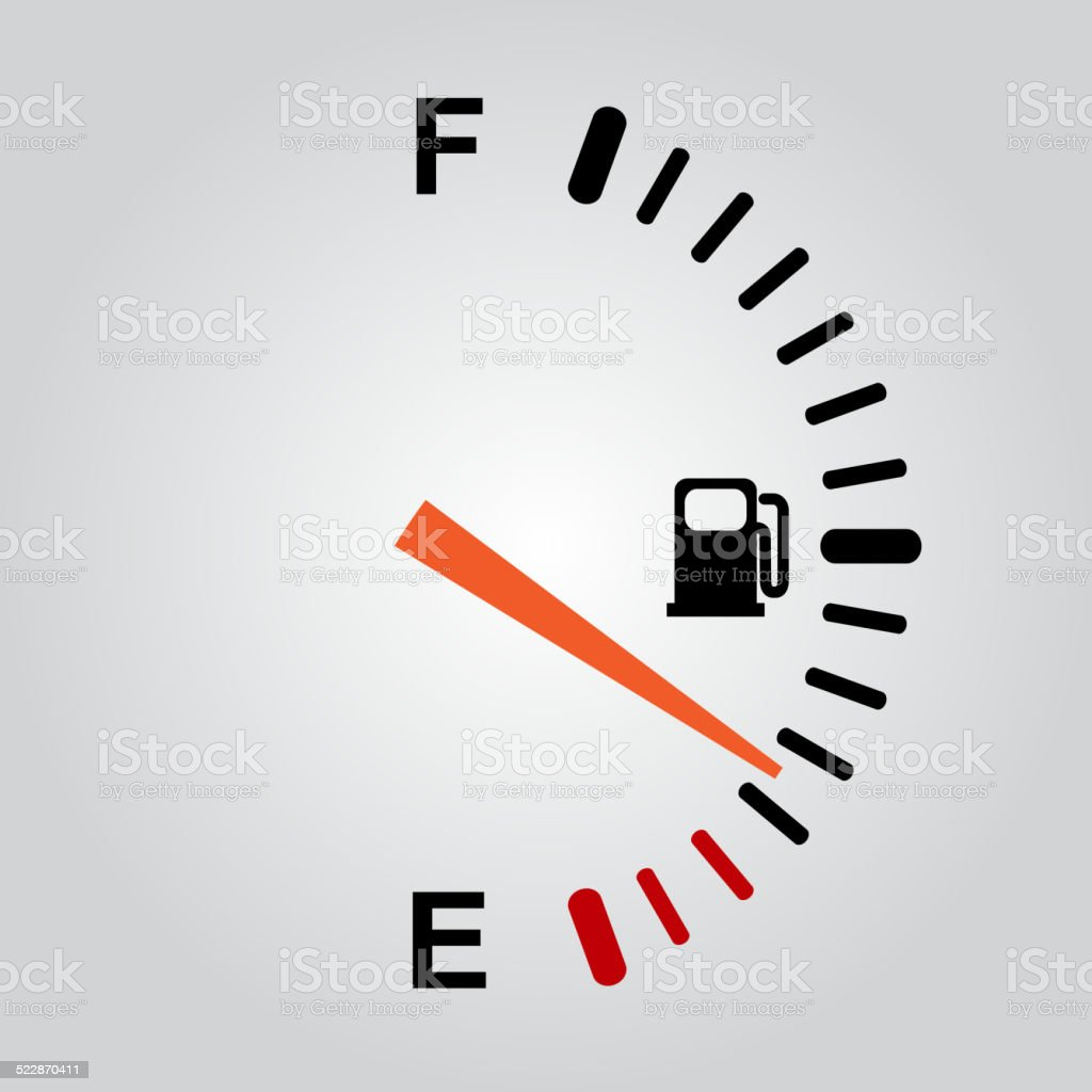 Fuel indication vector art illustration