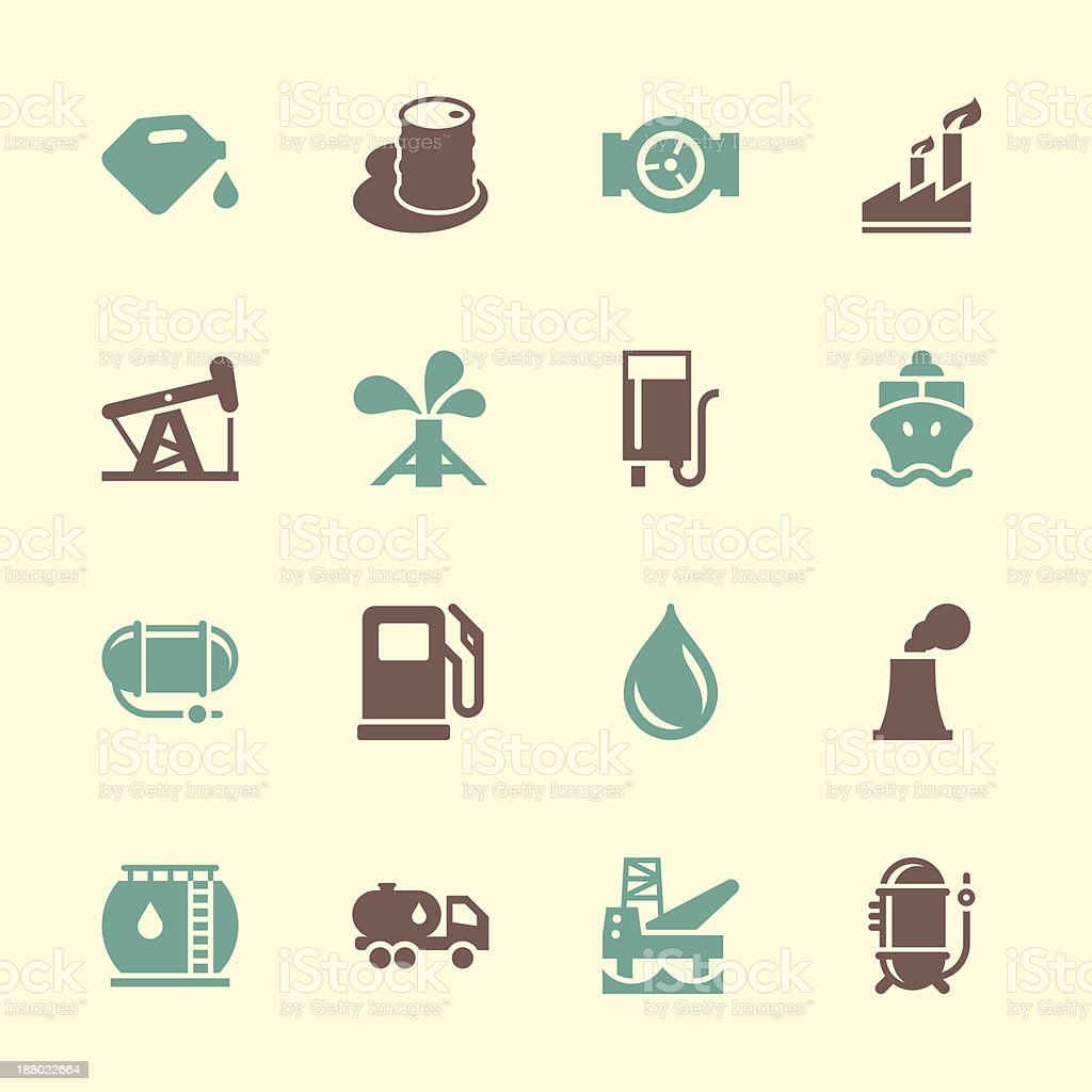 Fuel Industry Icons - Color Series vector art illustration