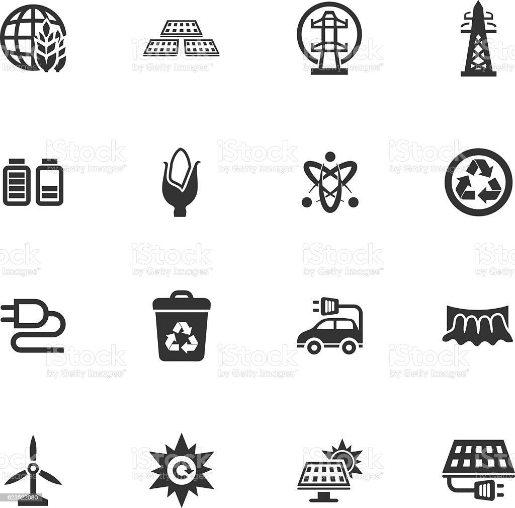 BIO Fuel industry icons set vector art illustration