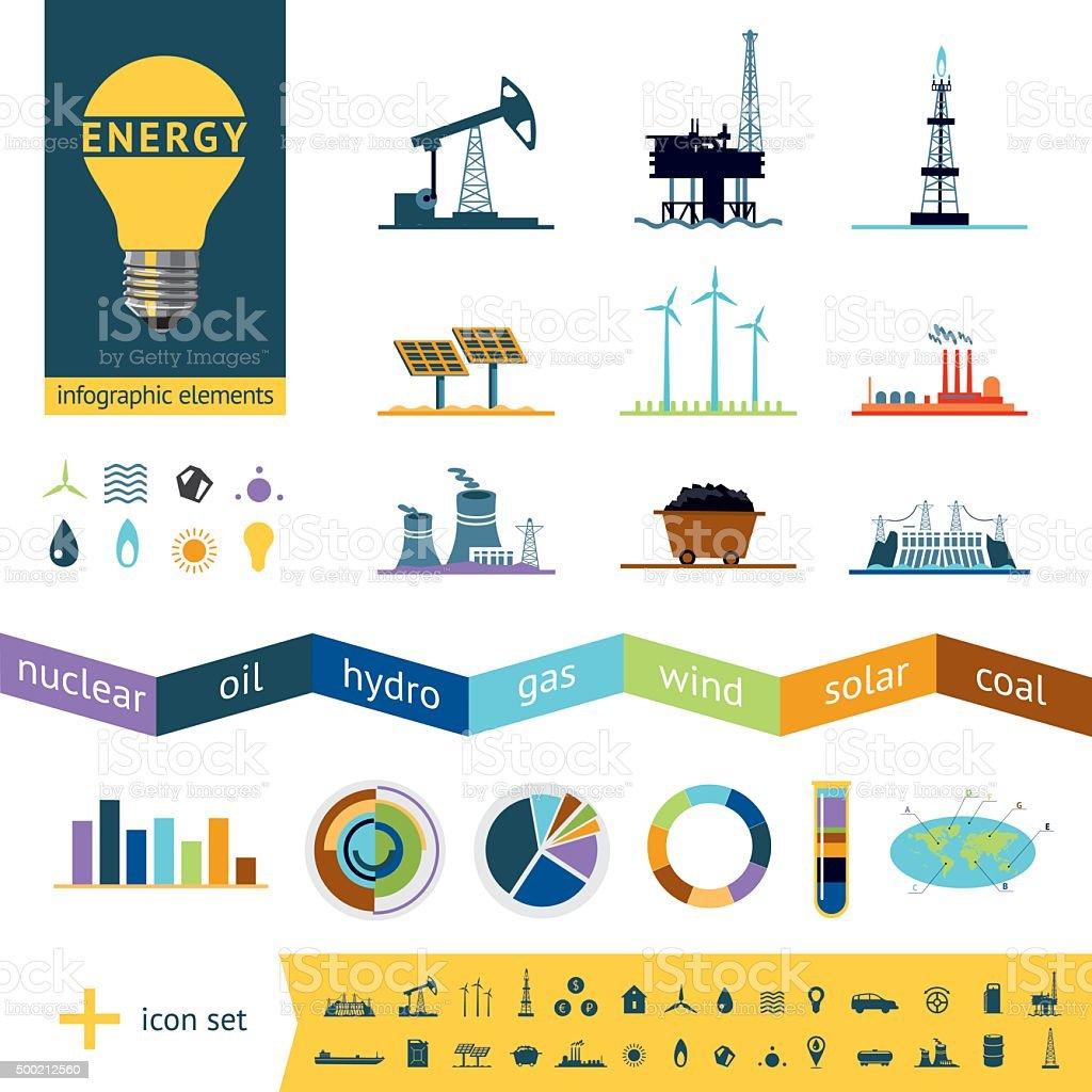 Fuel industry infographics vector art illustration