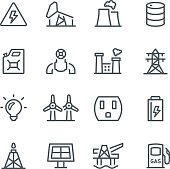 Fuel & Power Generation Icons