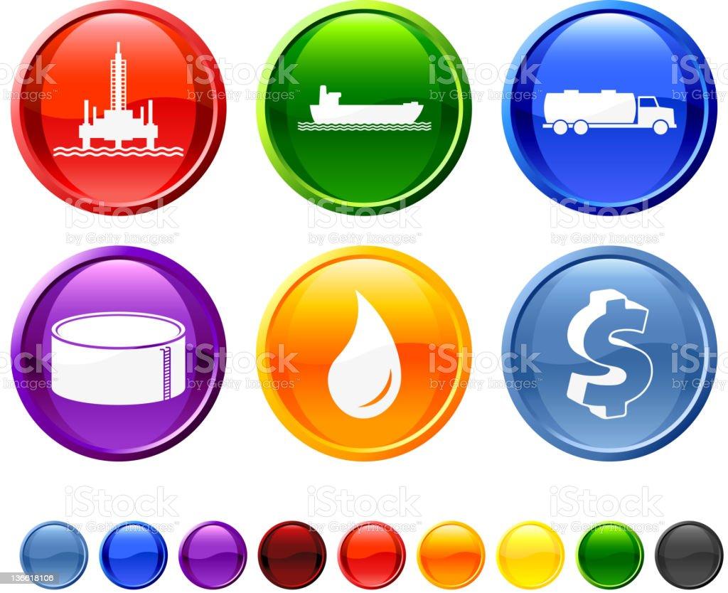 fuel supply chain icon set vector art illustration
