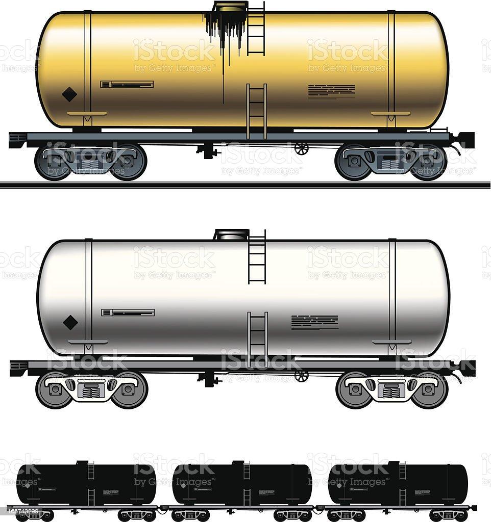 Fuel tank-car vector art illustration