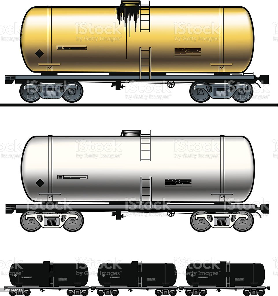 Fuel tank-car vector art illustration