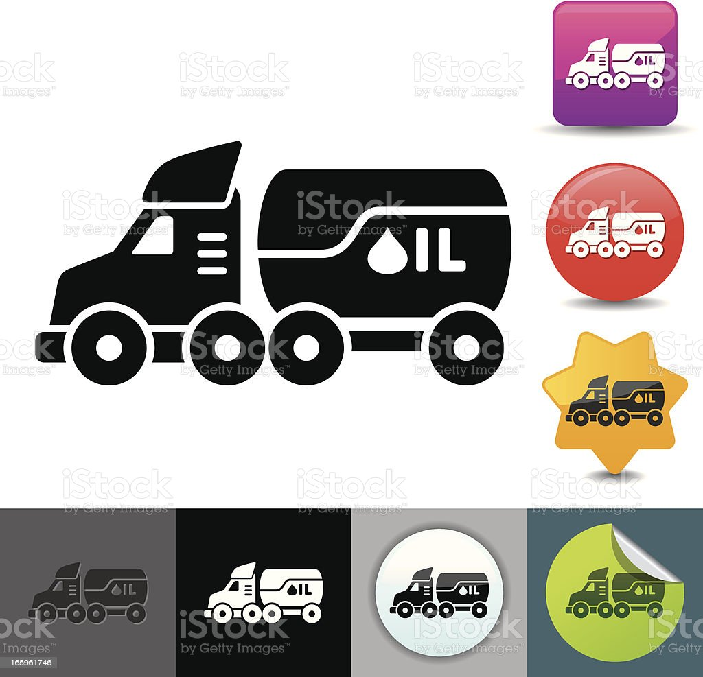 Fuel tanker icon | solicosi series royalty-free stock vector art