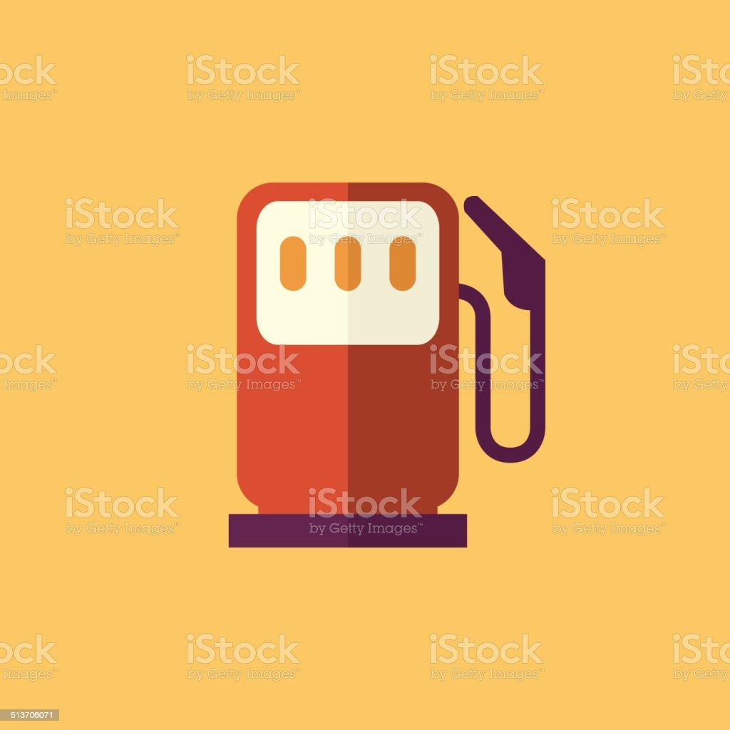 Fuel. Transportation Flat Icon vector art illustration