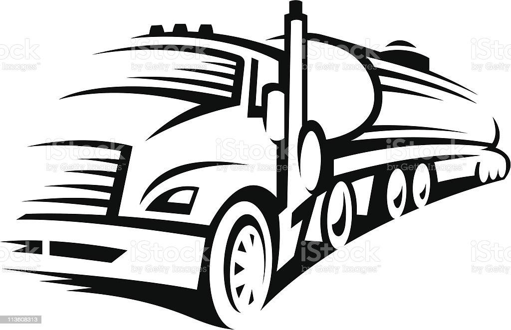 fuel truck royalty-free stock vector art