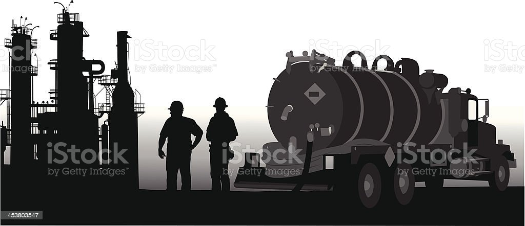 Fuel Truck vector art illustration