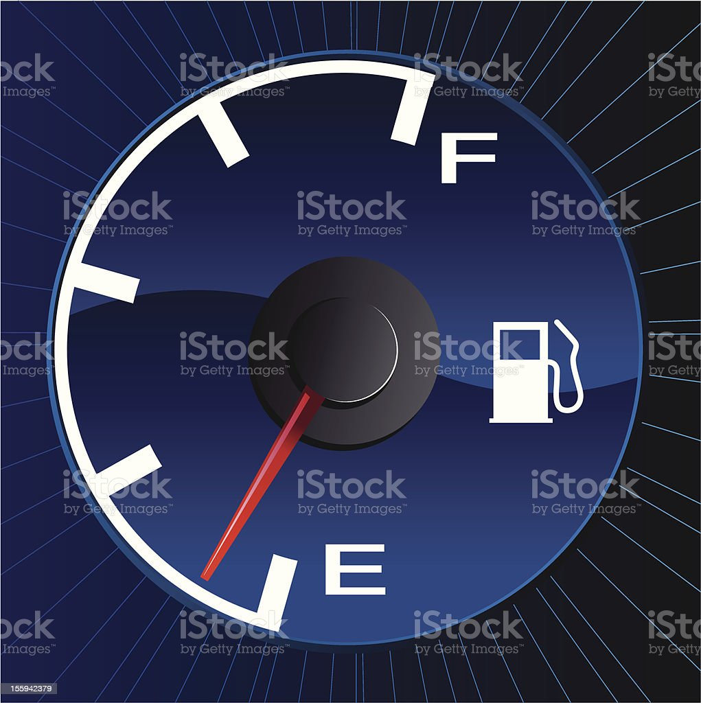 Fuelmeter royalty-free stock vector art