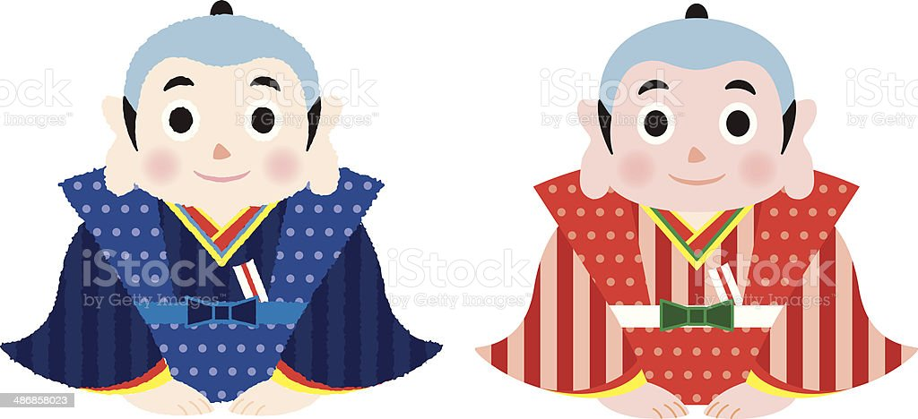 fukusuke royalty-free stock vector art