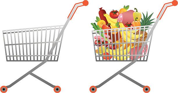Einkaufswagen Voll Vektorgrafiken und Illustrationen - iStock