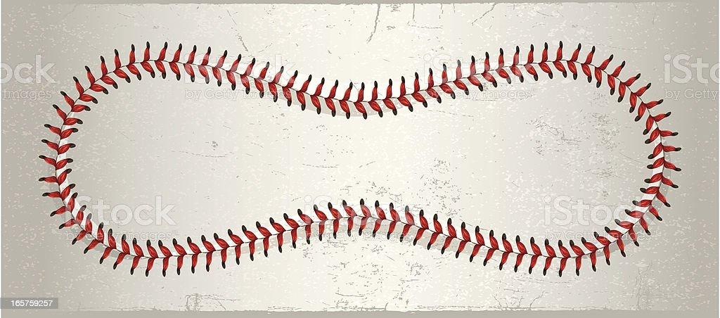 Full Baseball Laces royalty-free stock vector art