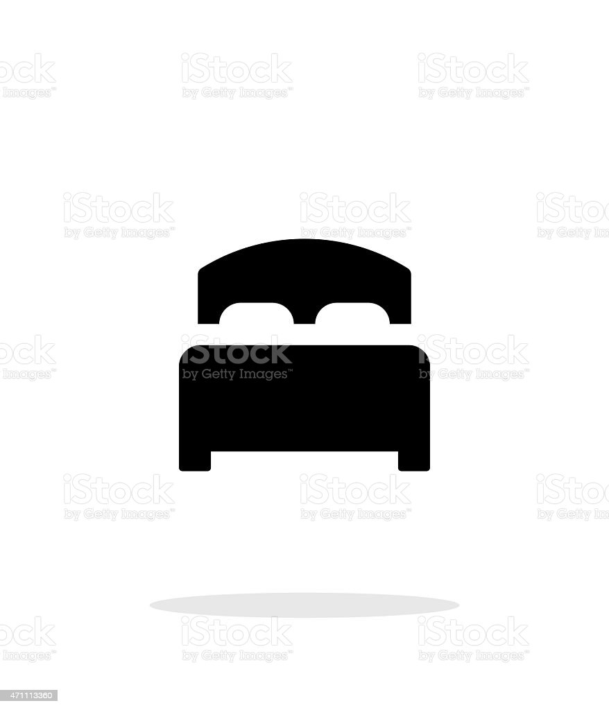 Full bed simple icon on white background vector art illustration