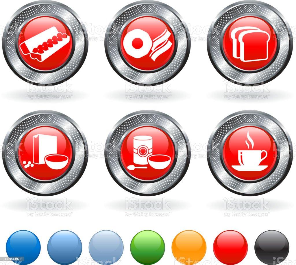 full breakfast royalty free vector icon set royalty-free stock vector art