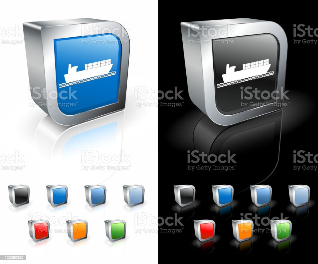 full freight industrial ship 3D royalty free vector art royalty-free stock vector art